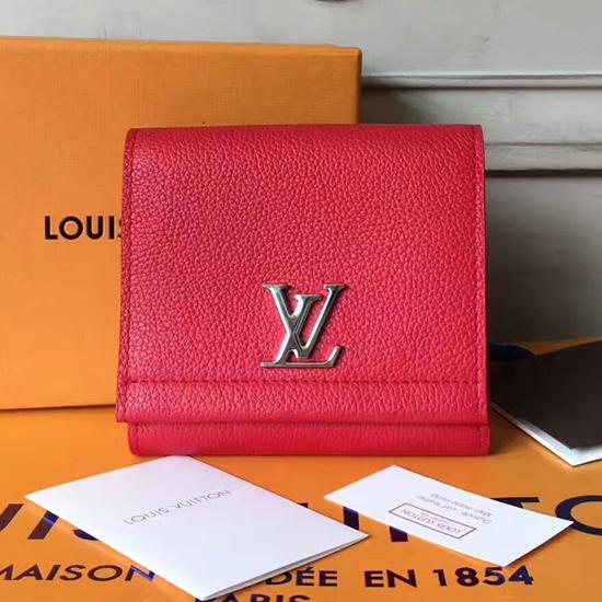Louis Vuitton Lockme II Compact Wallet M64308 Taurillon Leather