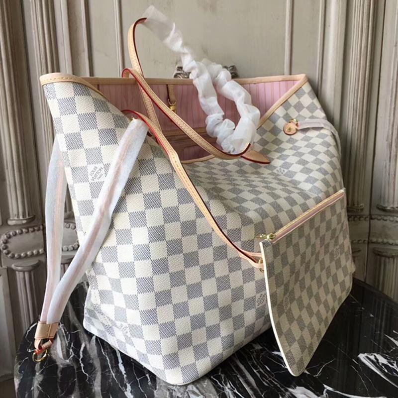 Louis Vuitton Neverfull GM N41604 Damier Azur Canvas