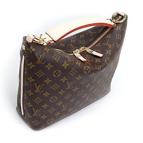Louis Vuitton M40586 Sully PM Hobo Bag Monogram Canvas