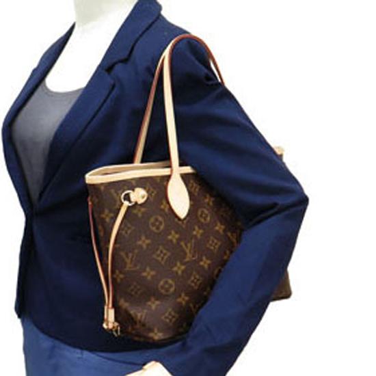 Louis Vuitton M41245 Neverfull PM Shoulder Bag Monogram Canvas