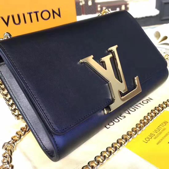 Louis Vuitton M41279 Chain Louise MM Crossbody Bag Calfskin Leather