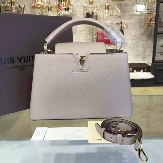 Louis Vuitton M42253 Capucines PM Tote Bag Taurillon Leather