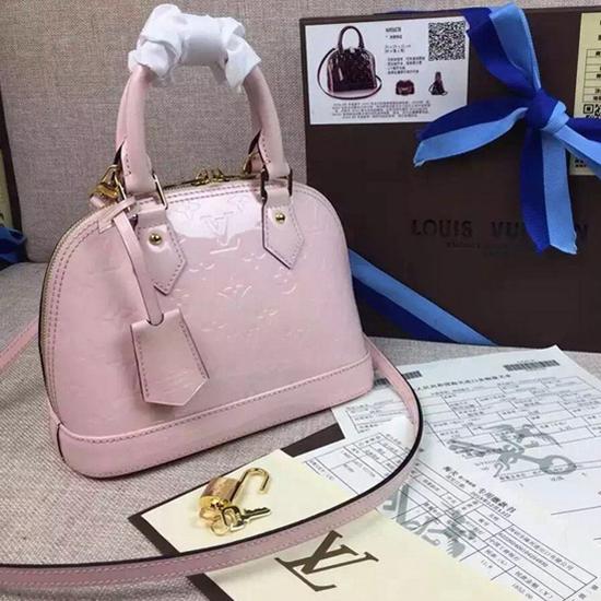 Louis Vuitton M50415 Alma BB Tote Bag Monogram Vernis