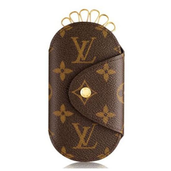 Louis Vuitton M60116 Round Key Holder PM Monogram Canvas
