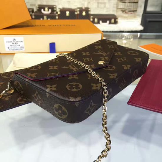 Louis Vuitton M61276 Pochette Felicie Chain Wallet Monogram Canvas
