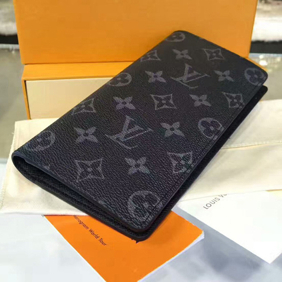 Louis Vuitton M61697 Brazza Wallet Monogram Eclipse Canvas