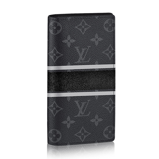 Louis Vuitton M64438 Brazza Wallet Monogram Eclipse Canvas