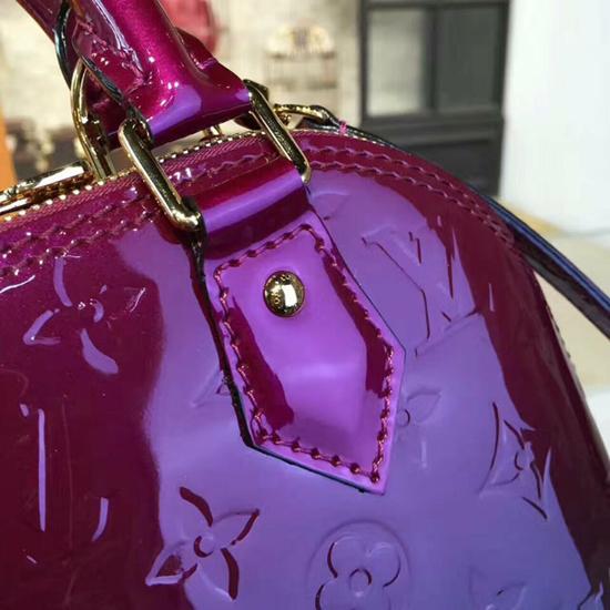 Louis Vuitton M90322 Alma BB Tote Bag Monogram Vernis