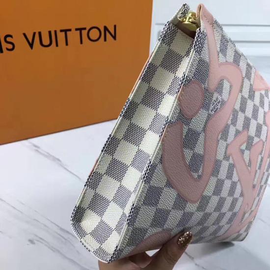 Louis Vuitton N41049 Toiletry Pouch 26 Damier Azur Canvas
