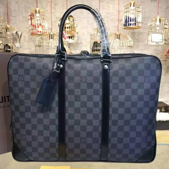 Louis Vuitton N41125 Porte-Documents Voyage Briefcase Damier Graphite Canvas