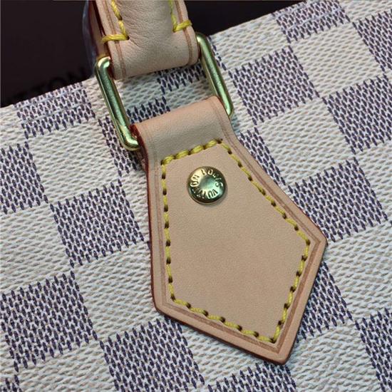 Louis Vuitton N41369 Speedy 35 Tote Bag Damier Azur Canvas