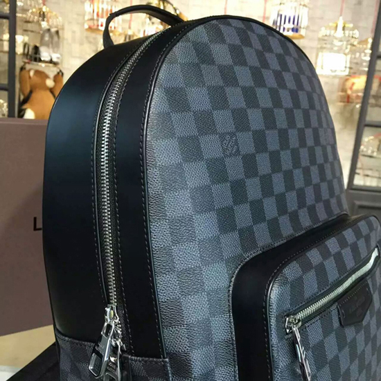 Louis Vuitton N41473 Josh Backpack Damier Graphite Canvas