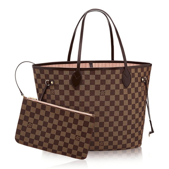 Louis Vuitton N41603 Neverfull MM Shoulder Bag Damier Ebene Canvas