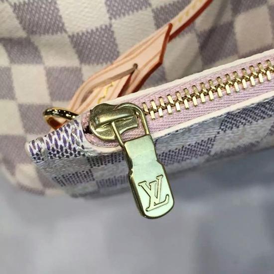 Louis Vuitton N41605 Neverfull MM Shoulder Bag Damier Azur Canvas