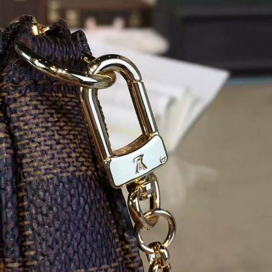 Louis Vuitton N41667 Mini Pochette Accessoires Damier Ebene Canvas