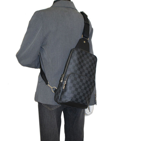 Louis Vuitton N41719 Avenue Sling Bag Damier Graphite Canvas