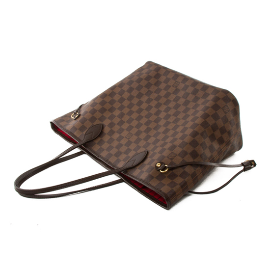 Louis Vuitton N51105 Neverfull MM Shoulder Bag Damier Ebene Canvas