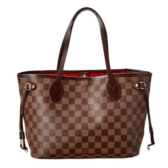Louis Vuitton N51109 Neverfull PM Shoulder Bag Damier Ebene Canvas