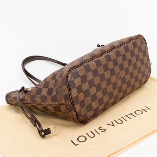 Louis Vuitton N51109 Neverfull PM Shoulder Bag Damier Ebene Canvas