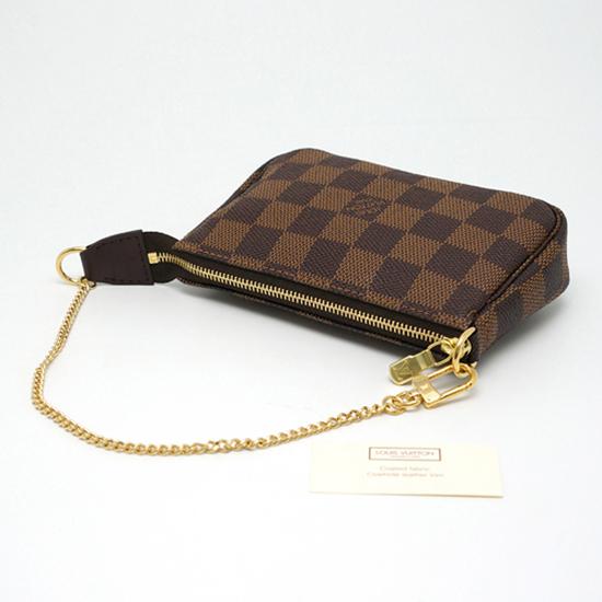 Louis Vuitton N58009 Mini Pochette Accessoires Damier Ebene Canvas