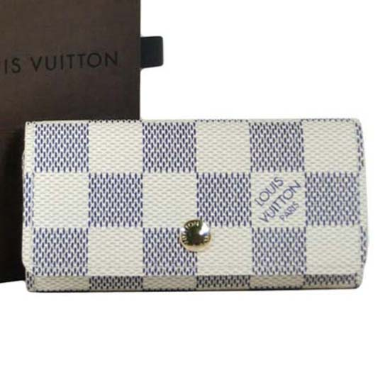 Louis Vuitton N60020 4 Key Holder Damier Azur Canvas