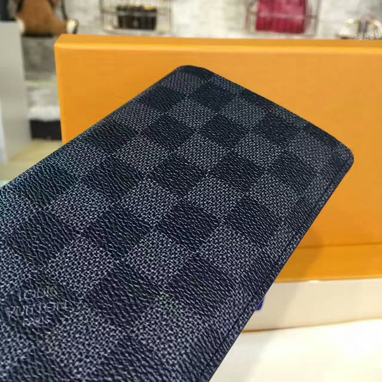 Louis Vuitton N62227 Brazza Wallet Damier Graphite Canvas