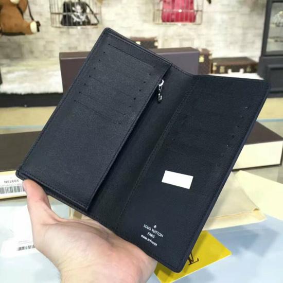 Louis Vuitton N62665 Brazza Wallet Damier Graphite Canvas