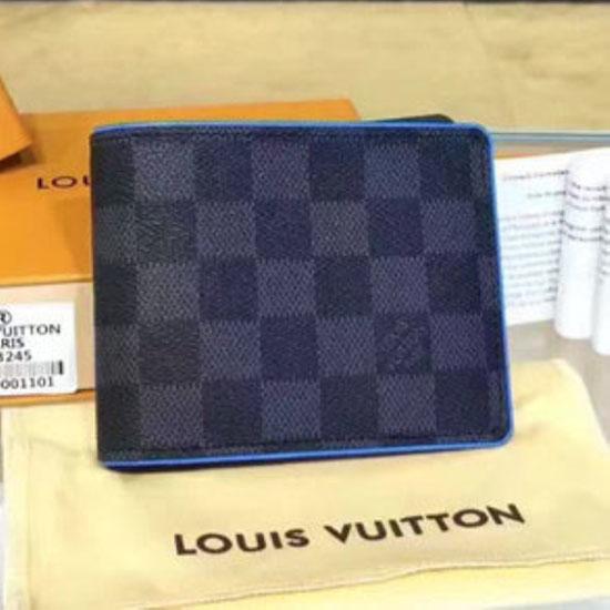 Louis Vuitton N63294 Multiple Wallet Damier Graphite Canvas