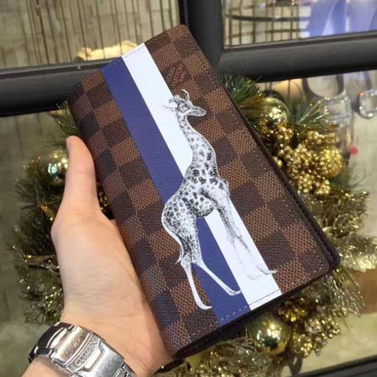 Louis Vuitton N63347 Brazza Wallet Damier Ebene Canvas