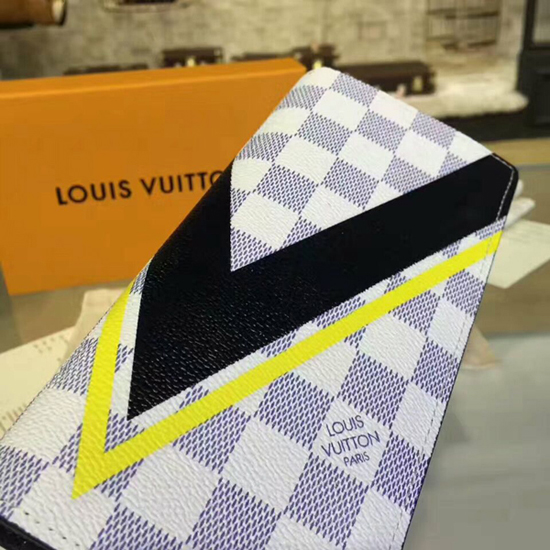 Louis Vuitton N64007 Brazza Wallet Damier Azur Canvas