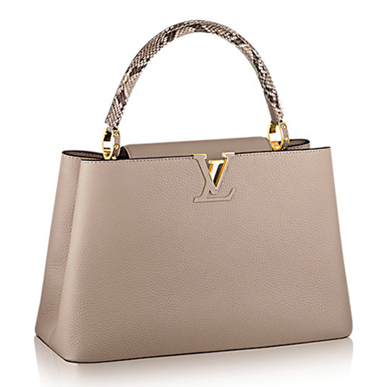 Louis Vuitton N91711 Capucines MM Tote Bag Taurillon Leather